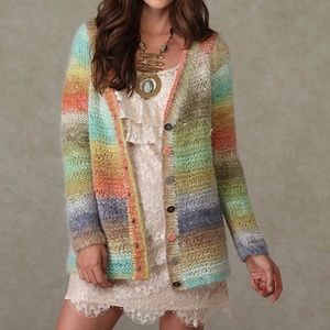 NWOT Free People Colors of Sunset Cardigan